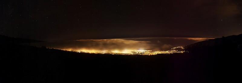 Panoráma okolí Puerto de la Cruz a La Orotavy z vyhlídky El Guancho
