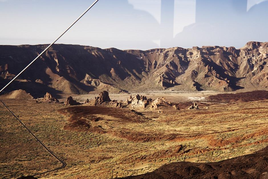 Roques de García a okraj kaldery Caňadas