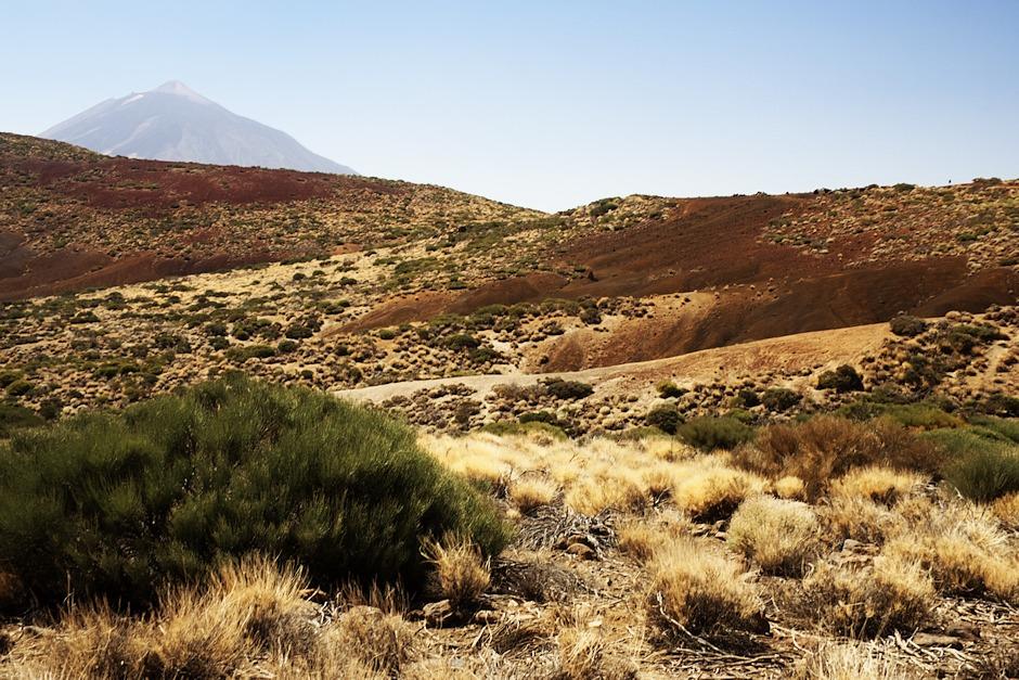 Pohled na oblast pod vyhlídkou Arenas Negras z cesty k Volcán de Fasnia