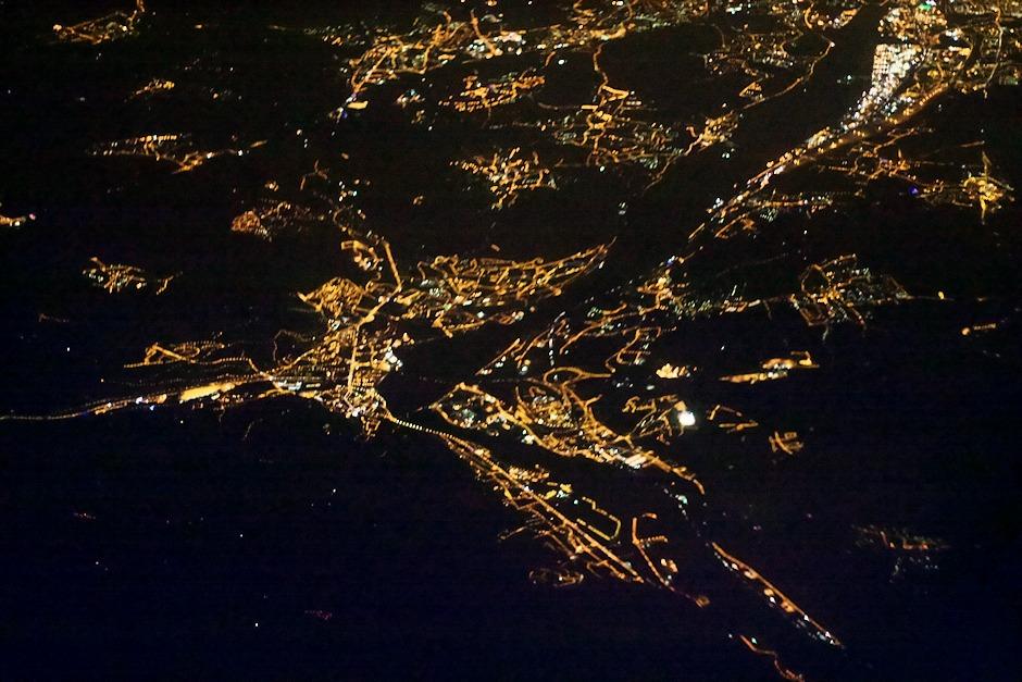 Francie, Givors a v horní části snímku Lyon