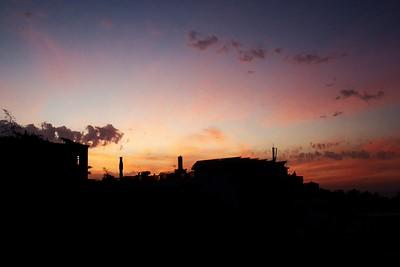 Západ slunce nad Puerto de la Cruz