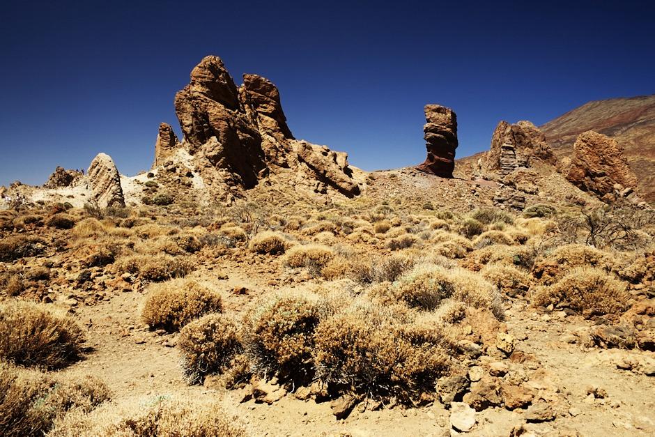 Los Roques de García. Údajně se jedná o pozůstatky původního nitra větší sopky, která zde stála, než se celá kaldera propadla.