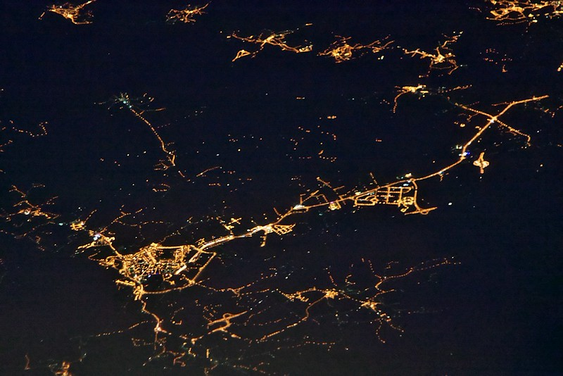 Portugalsko, vlevo dole patrně Fundao