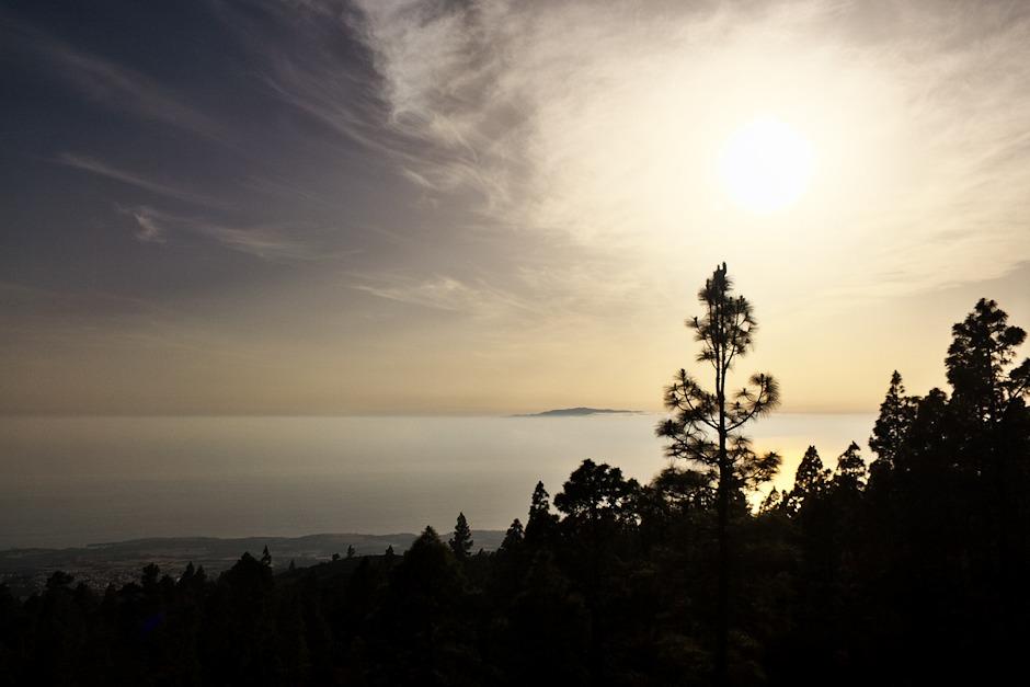 Opět La Gomera a západní pobřeží Tenerife pod městem Guia de Isora