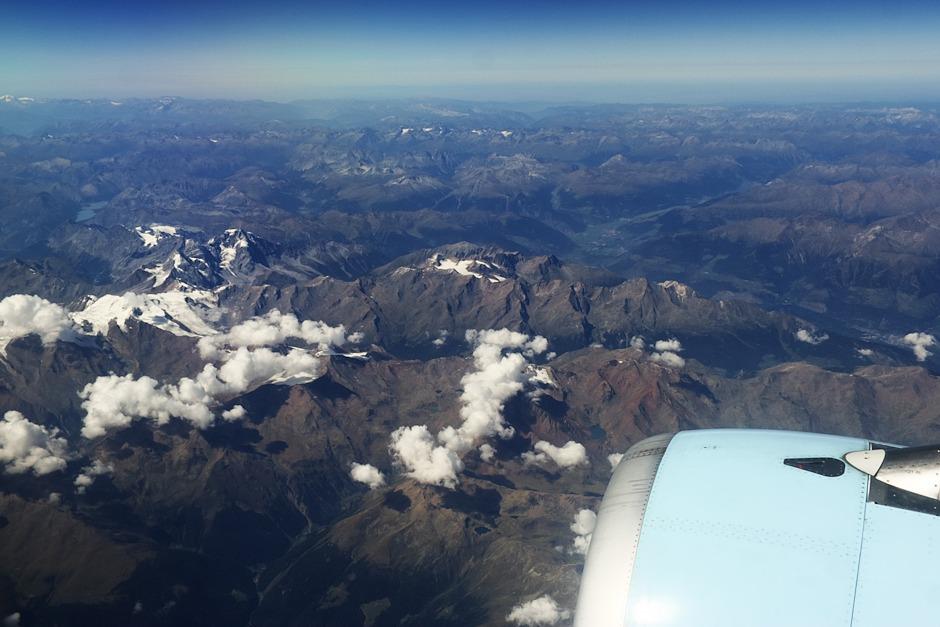 Itálie, pohoří Ortles. Takřka přímo uprostřed snímku se nachází hora Vertainspitze.