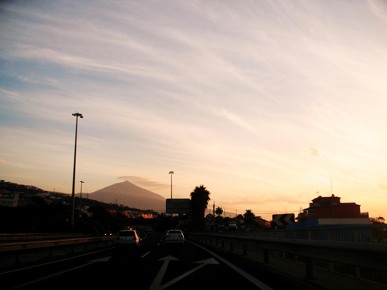 Severní dálnice směrem na Puerto Cruz