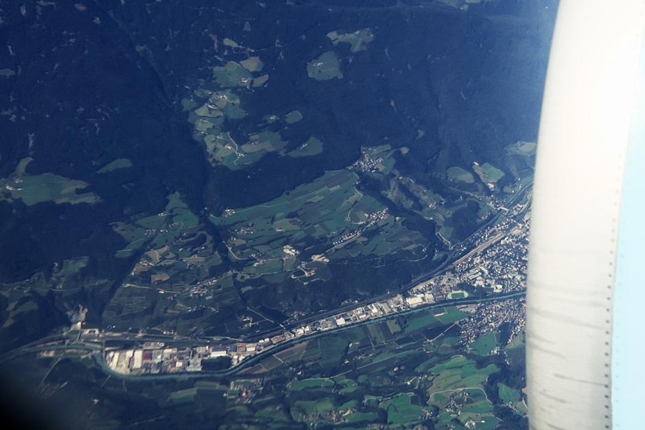 Itálie, průmyslová zóna západně od města Bressanone