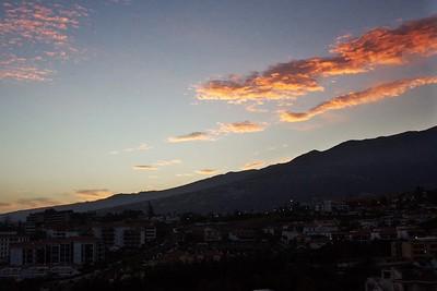 Východ slunce nad Puerto de la Cruz