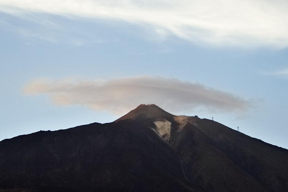 Znovu vrcholek Teide a lanovka