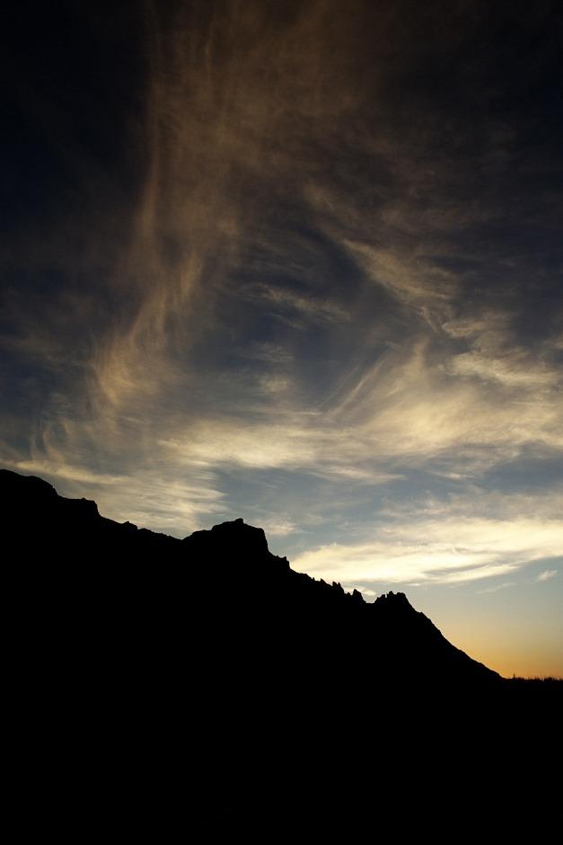 Západ slunce nad kalderou Caňadas