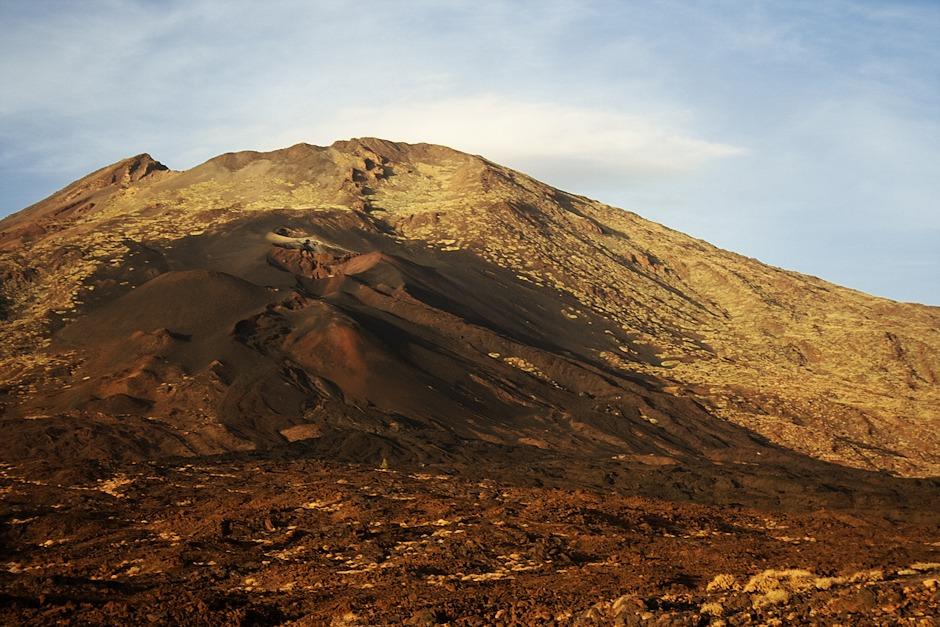Detail místa zatím poslední erupce v parku Teide, ke které došlo na Pico Viejo v roce 1798.