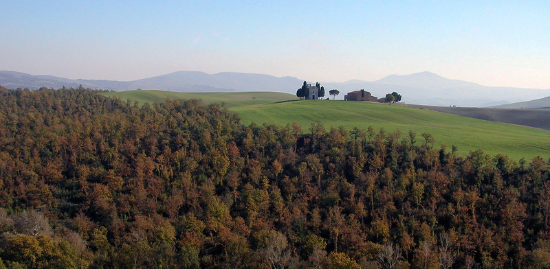 Tuscany region of Italy in the fall.