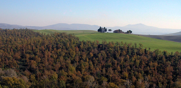 Tuscany region of Italy in the fall.