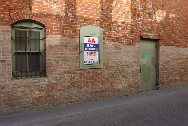 Bail bond company, Pasadena, California.