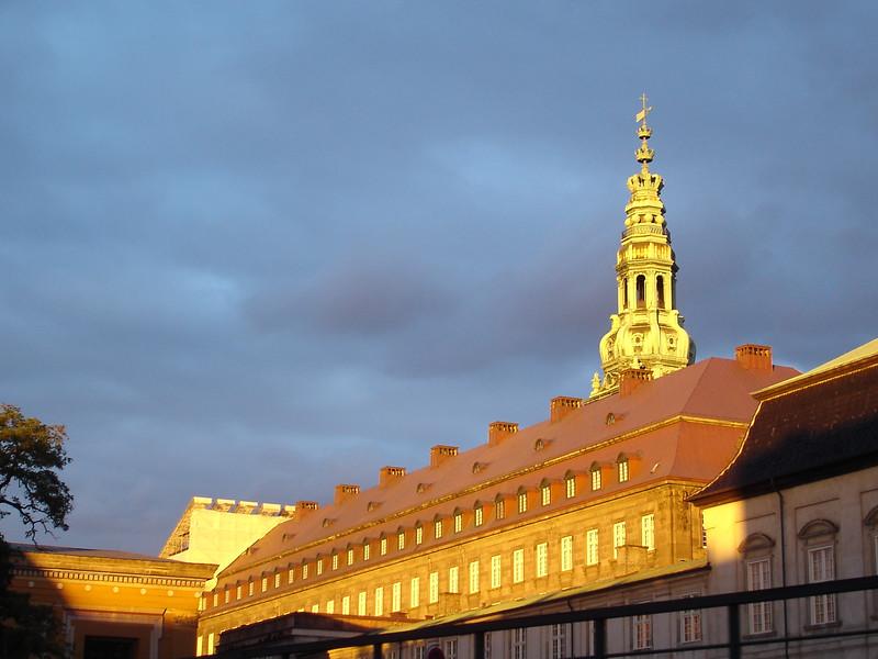 Copenhagen at sunset.