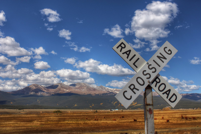 Mountain Train Crossing