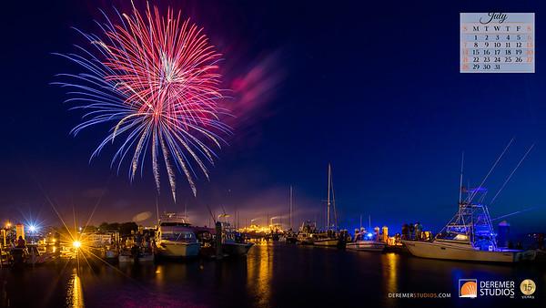 2019 Calendar - Amelia Island FL 07 July - Deremer Studios LLC