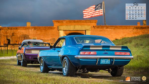 2019 Calendar - Cars 07 July - Deremer Studios LLC