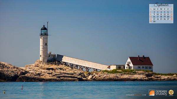 2019 Calendar - Lighthouses 09 September - Deremer Studios LLC