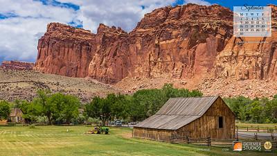 2019 Calendar - National Parks 09 September - Deremer Studios LLC