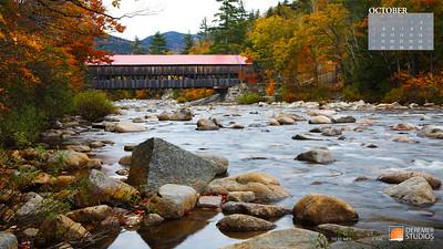 2020 New England Calendar - 10 October
