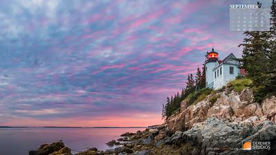 2020 New England Calendar - 09 September