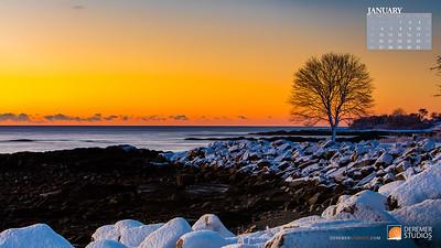 2020 New England Calendar - 01 January