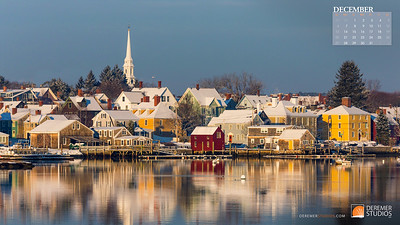 2020 New England Calendar - 12 December