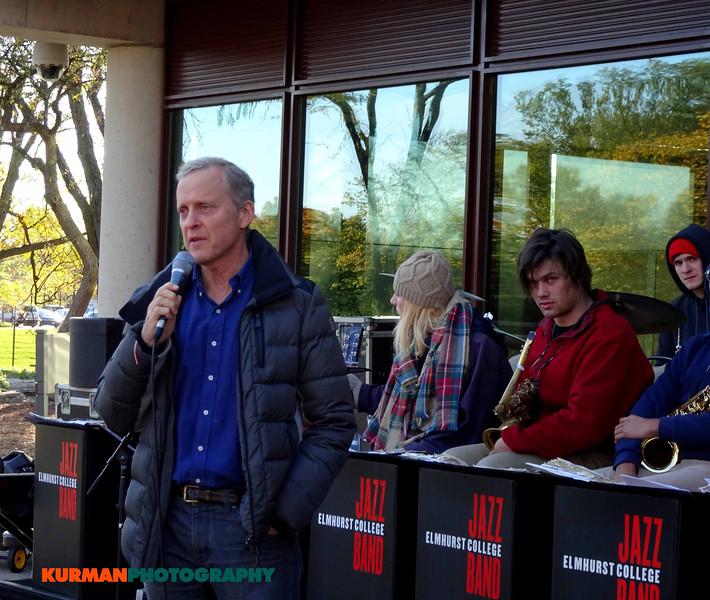 Bob Sirott, WLS Radio, at Freedom Golf Association 5K Run Walk