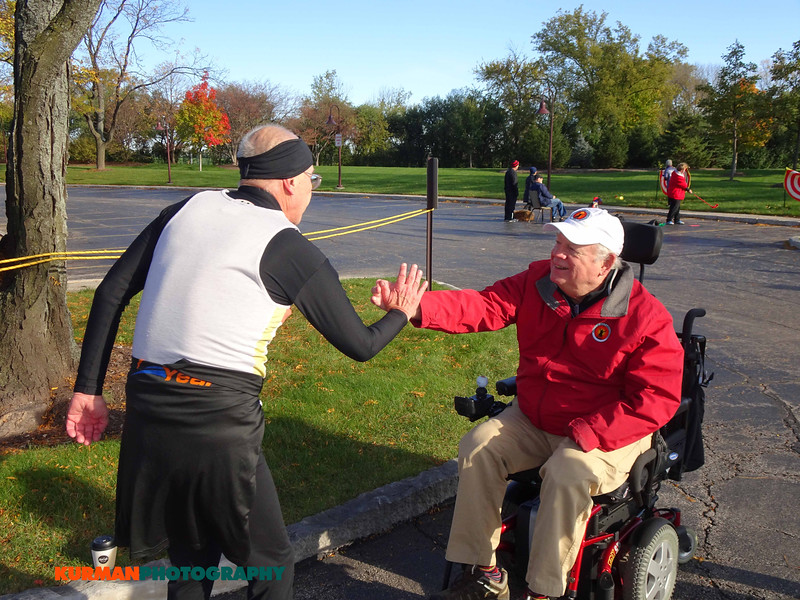 Karl Johnson (Woodridge) with E. Q. Sylvester, Freedom Golf Association