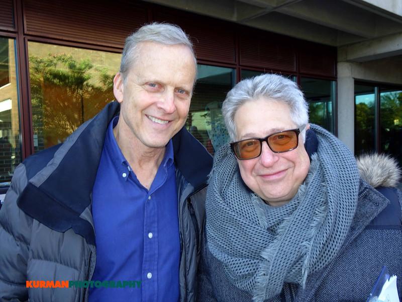 Bob Sirott, WLS Radio and Lee Barrie, Kurman Communications at Freedom Golf Association 5K Run Walk