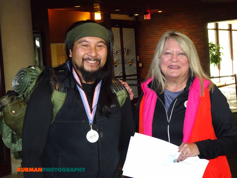 Carmelo Aguinir (Joliet) vet of Afghanistan and Sally Ruecking (Elmhurst)