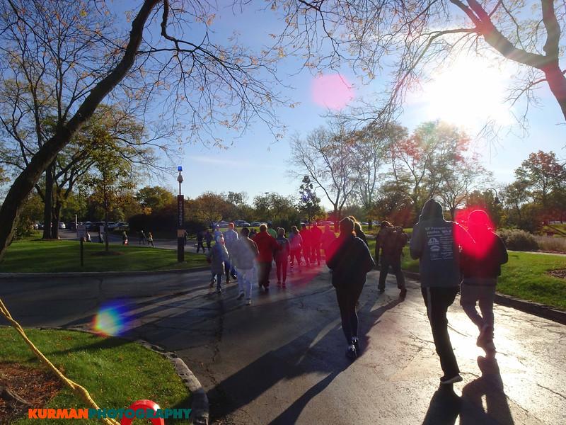 Running in the sun. Freedom Golf Association 5K Run/Walk