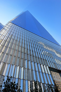The west side  - entrance of the Freedom Tower.
