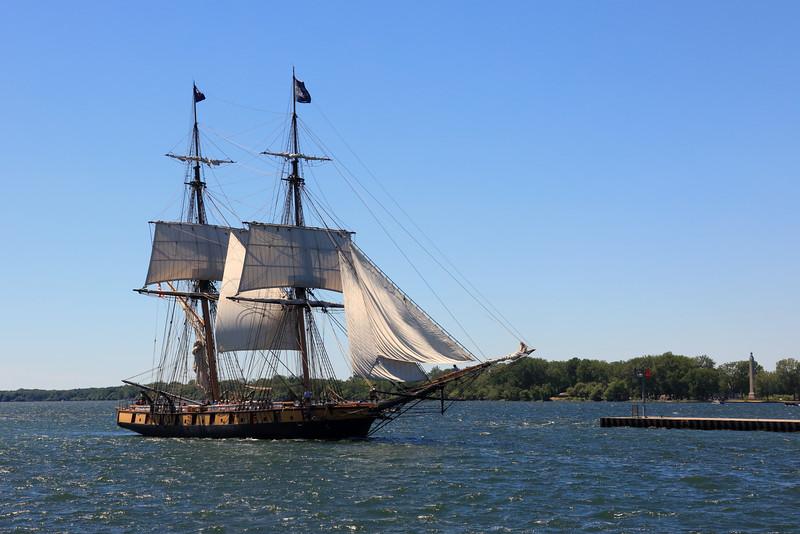 USS Niagara near Oliver Hazard Perry Monument