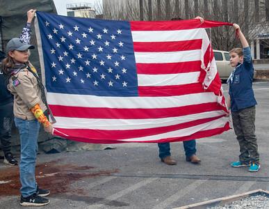 Scouts Flag Retirement