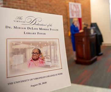 Dedication Dr. Fuller Library Foyer