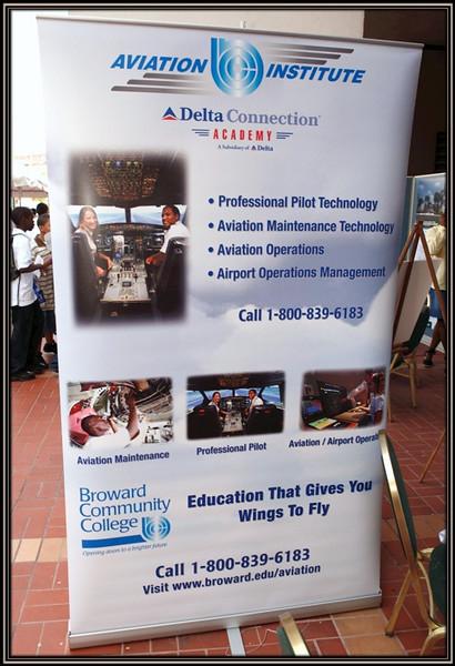 Broward College Aviation Institute Display