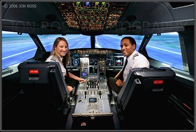 Broward College  Aviation Institute Photoshoot (Professional Pilot)Airbus Simulator | Miami, FL Canon EOS 5D | Canon EF 16-35mm f/2.8 L USM.8s | f/10 @ 16mm | EC -1 | ISO 1000