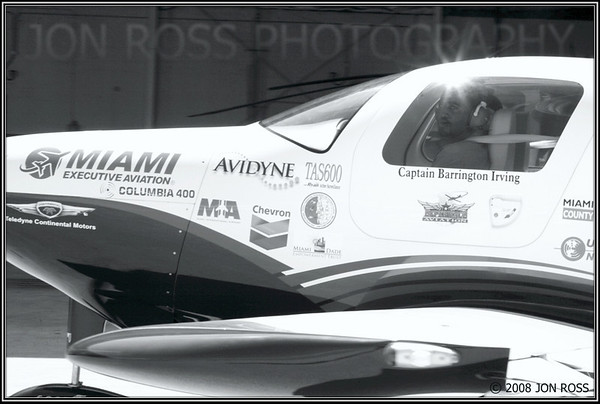 """Barrington Irving piloting the """"Inspiration""""OPF Airport 