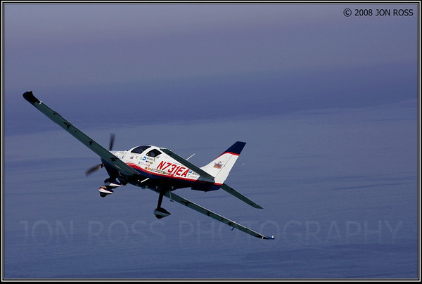 """Barrington Irving piloting the """"Inspiration"""" (Aerial Image) 