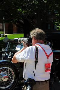 Visiting Geneva/St.Charles Illinois. Concours D'Elegence car show . Visitors just as interesting as cars, perhaps more.