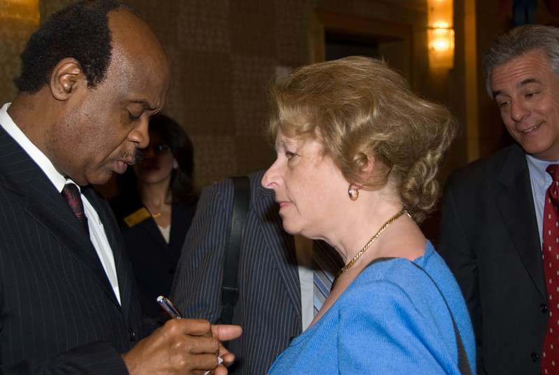 50+ Employment Expo --Ike Leggett, Montgomry County Executive talks with Carol Bender