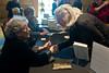 Arlene signing books