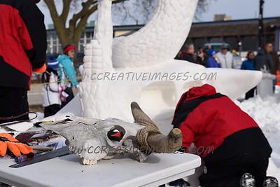 US National Snow Sculpting Lake Geneva WI 1.2015