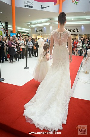 Bride and young bridesmaid
