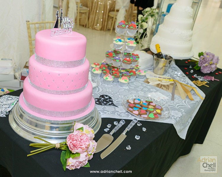 Some of the beautiful wedding cakes on display