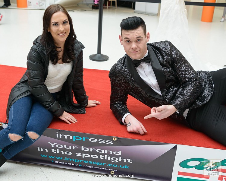Dan and friend with the Impress PR ad