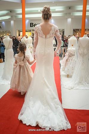 Bride and young bridesmaids