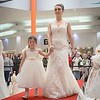 Bride and young bridesmaid